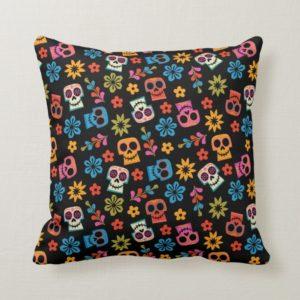 Disney Pixar Coco   Sugar Skull & Floral Pattern Throw Pillow