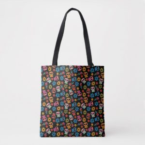 Disney Pixar Coco | Sugar Skull & Floral Pattern Tote Bag