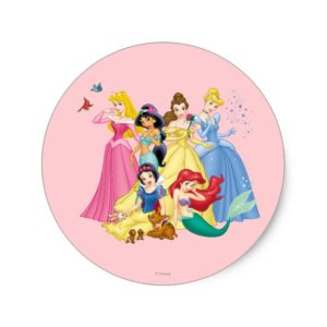 Disney Princess | Birds and Animals Classic Round Sticker