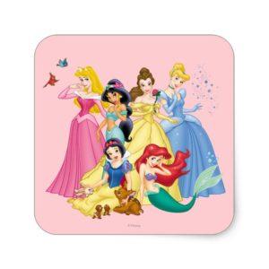 Disney Princess   Birds and Animals Square Sticker