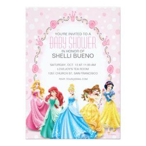 Disney Princess It's a Girl Baby Shower Invitation