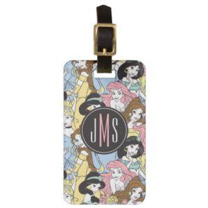 Disney Princess   Monogram Oversized Pattern Bag Tag