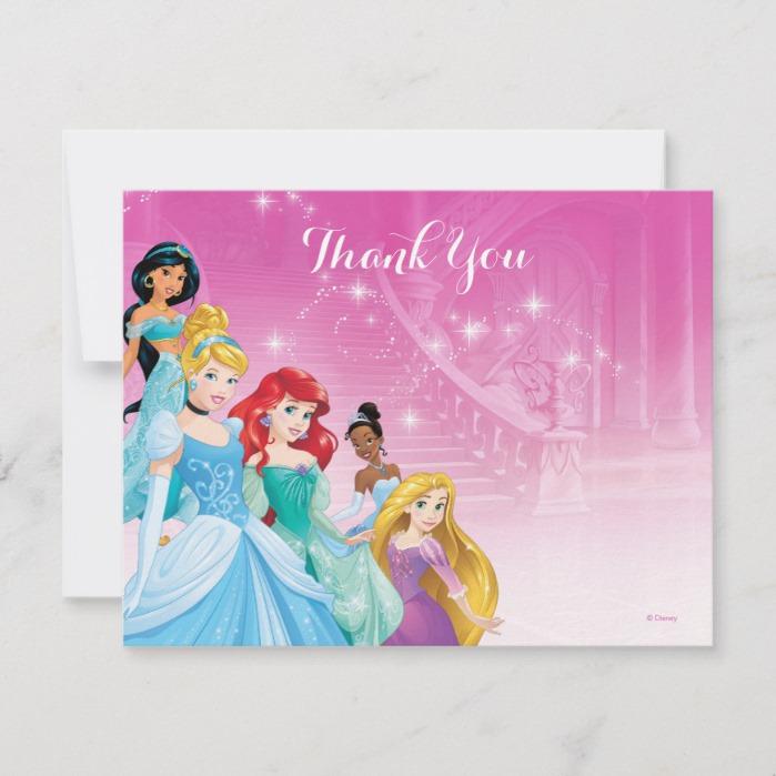 Brilliant Disney Princess Thank You Birthday Custom Fan Art Funny Birthday Cards Online Alyptdamsfinfo