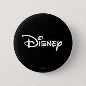 Disney White Logo Button