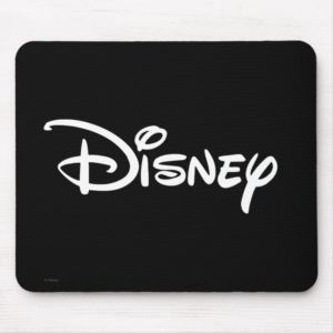 Disney White Logo Mouse Pad