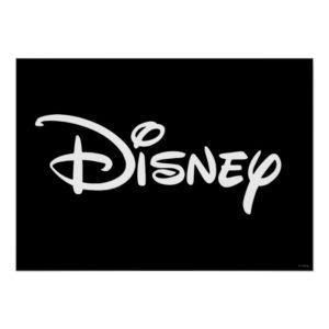 Disney White Logo Poster