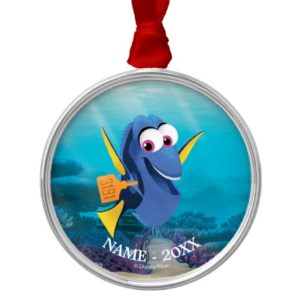 Dory | Finding Dory Smiling Add Your Name Metal Ornament