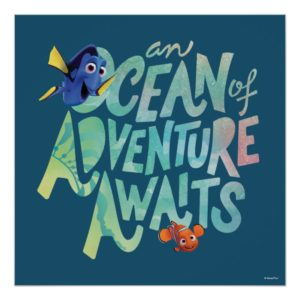 Dory & Nemo | An Ocean of Adventure Awaits Poster