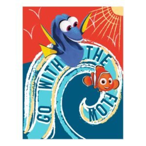 Dory & Nemo   Go with the Flow Postcard