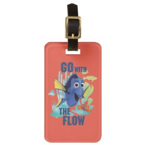 Dory & Nemo | Go with the Flow Watercolor Graphic Luggage Tag