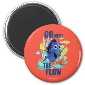 Dory & Nemo | Go with the Flow Watercolor Graphic Magnet