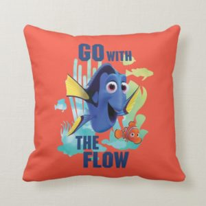 Dory & Nemo | Go with the Flow Watercolor Graphic Throw Pillow