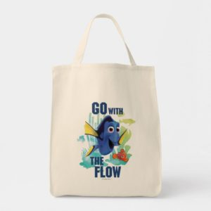 Dory & Nemo | Go with the Flow Watercolor Graphic Tote Bag