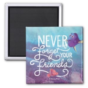 Dory & Nemo   Never Forget Your Friends Magnet