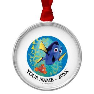 Dory & Nemo   Swim With Friends Add Your Name Metal Ornament