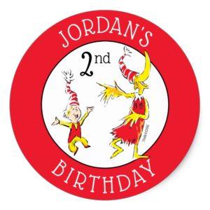 Dr. Seuss   Happy Birthday to You Classic Round Sticker