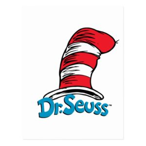 Dr. Seuss Hat Logo Postcard