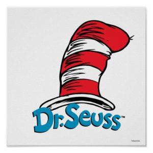 Dr. Seuss Hat Logo Poster