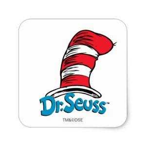 Dr. Seuss Hat Logo Square Sticker