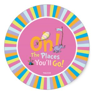 Dr. Seuss | Oh! The Places You'll Go! Classic Round Sticker