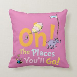 Dr. Seuss | Oh! The Places You'll Go! Throw Pillow