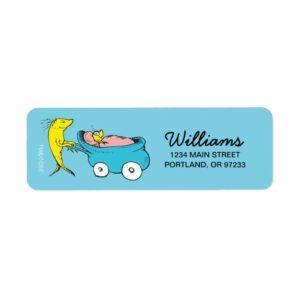 Dr. Seuss   One Fish - Boy Baby Shower Label