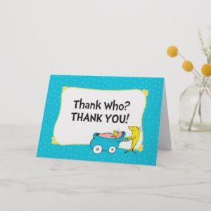 Dr. Seuss | One Fish - Boy Baby Shower Thank You