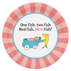 Dr. Seuss | One Fish - Girl Baby Shower Paper Plate