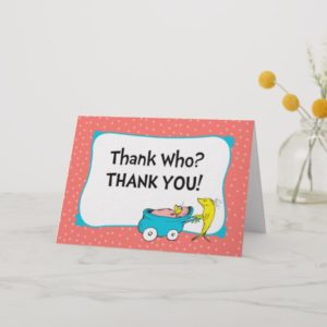 Dr. Seuss | One Fish - Girl Baby Shower Thank You