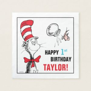 Dr. Seuss | The Cat in the Hat Birthday Napkin