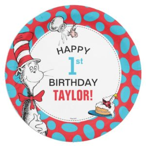 Dr. Seuss | The Cat in the Hat Birthday Paper Plate