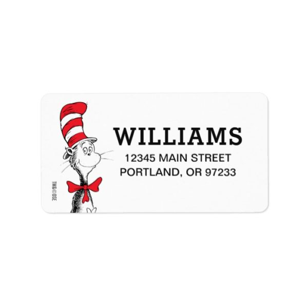 Dr. Seuss | The Cat in the Hat Label