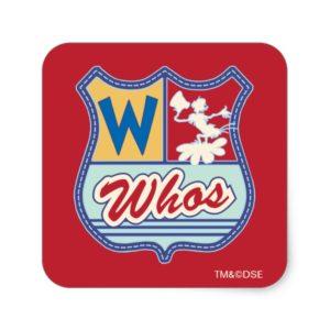 Dr. Seuss | Whoville - Whos Crest Square Sticker