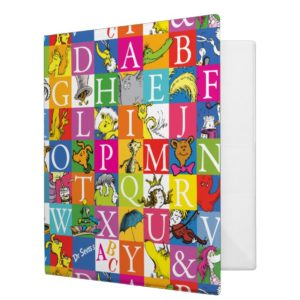 Dr. Seuss's ABC Colorful Block Letter Pattern Binder