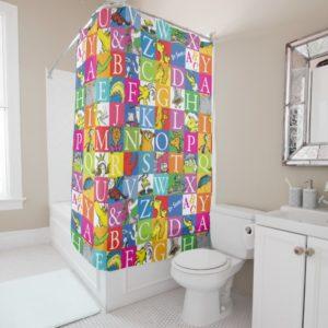 Dr. Seuss's ABC Colorful Block Letter Pattern Shower Curtain