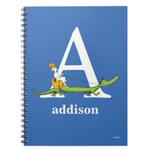 Dr. Seuss's ABC: Letter A - White   Add Your Name Notebook