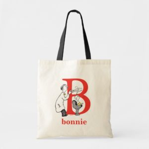 Dr. Seuss's ABC: Letter B - Red | Add Your Name Tote Bag