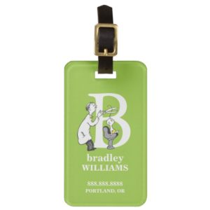 Dr. Seuss's ABC: Letter B - White | Add Your Name Luggage Tag