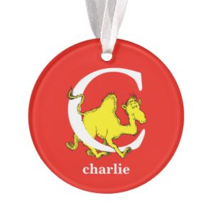 Dr. Seuss's ABC: Letter C - White | Add Your Name Ornament