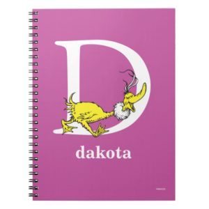 Dr. Seuss's ABC: Letter D - White   Add Your Name Notebook