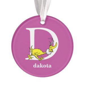 Dr. Seuss's ABC: Letter D - White | Add Your Name Ornament