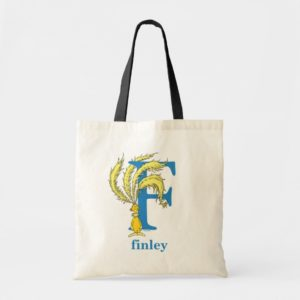 Dr. Seuss's ABC: Letter F - Blue | Add Your Name Tote Bag