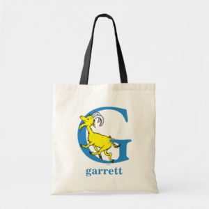 Dr. Seuss's ABC: Letter G - Blue | Add Your Name Tote Bag