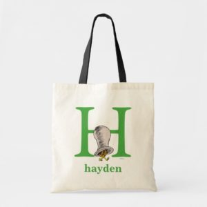 Dr. Seuss's ABC: Letter H - Green | Add Your Name Tote Bag