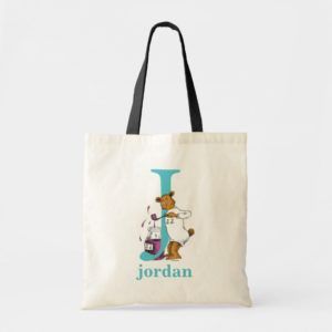 Dr. Seuss's ABC: Letter J - Teal   Add Your Name Tote Bag