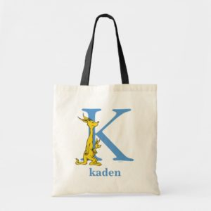Dr. Seuss's ABC: Letter K - Blue | Add Your Name Tote Bag