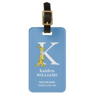 Dr. Seuss's ABC: Letter K - White | Add Your Name Luggage Tag
