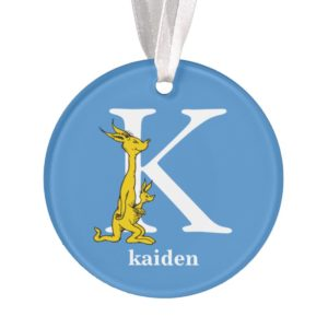 Dr. Seuss's ABC: Letter K - White | Add Your Name Ornament