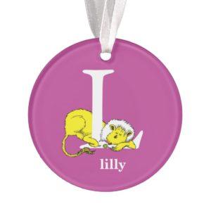 Dr. Seuss's ABC: Letter L - White   Add Your Name Ornament