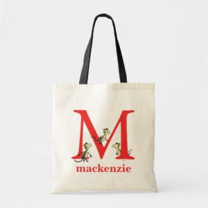 Dr. Seuss's ABC: Letter M - Red   Add Your Name Tote Bag